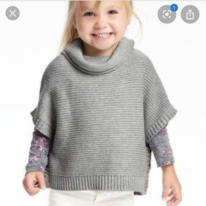 Old Navy sweater poncho 4T